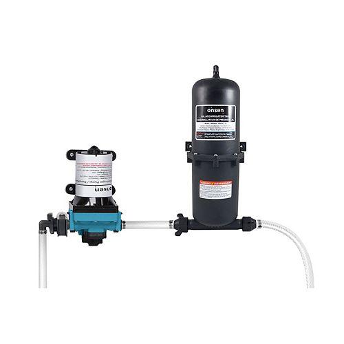 3.0 Diaphragm RV / Marine Water Pump w/ 1.0L Accumulator Tank