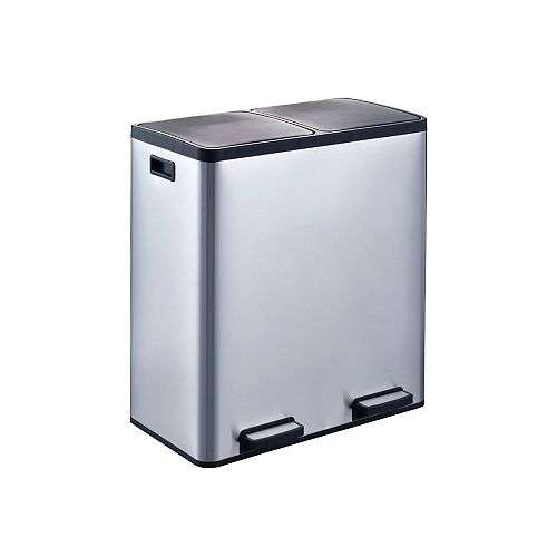 The Step N' Sort Large Capacity 70L Dual Trash and Recycling Bin