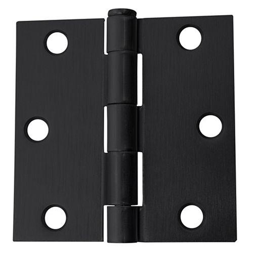 Charnière de porte 3 po, noir, 1pc