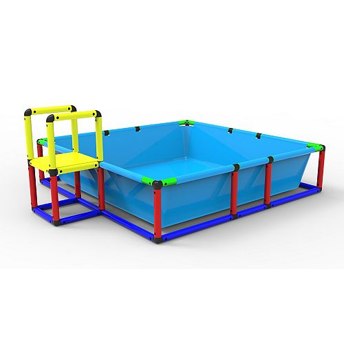 Funphix Build 'n' Splash Buildable Swimming Pool - Outdoor Building Toy Pool, Ball Pit, Sandpit