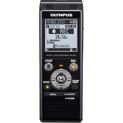 WS-853 Stereo Voice Recorder with 8GB Built-In Memory