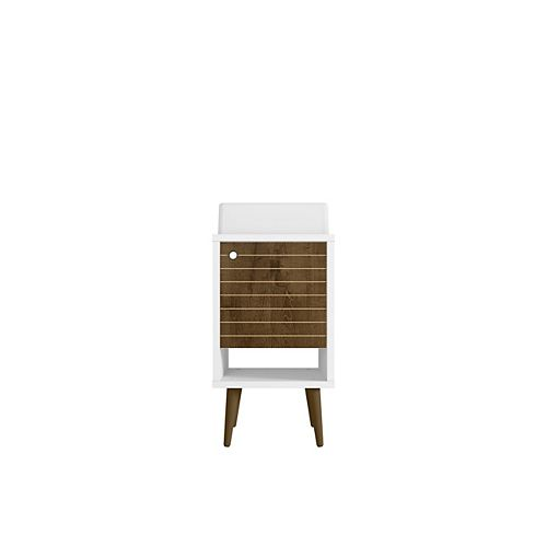 Liberty 17.71-inch Single-Sink Vanity in White and Rustic Brown with Vanity Top in White