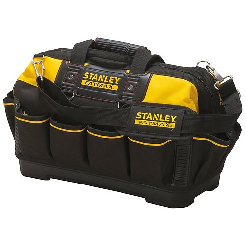 STANLEY FATMAX 18-inch Fabric/Plastic Open Mouth Tool Bag
