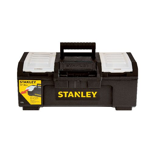 16-inch One Touch Tool Box with Removable Lid Organizers