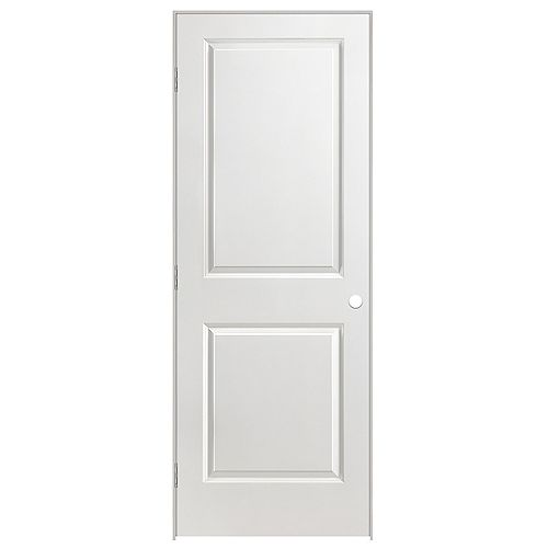28 x 80 2 Panel Smooth Solid Core Prehung Door Right Hand