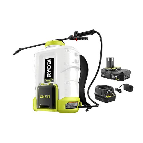 18V ONE+ Lithium-Ion Cordless 4 Gal. Backpack Spayer Kit with 2.0 Ah Battery and Charger