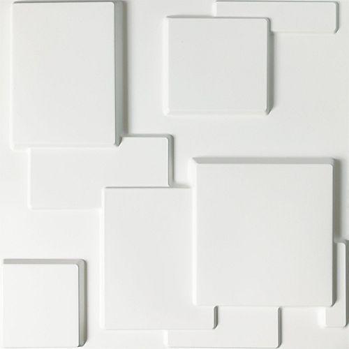 19.7-inch x 19.7-inch 3D Wall Panels PVC Squares Design (32 Sq.Ft)