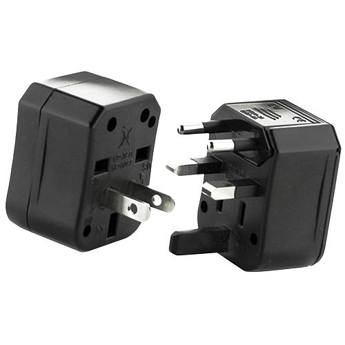 Universal Travel Power Adapter Worldwide AC Outlet Plugs Adapters for Europe, UK, US, AU, Asia