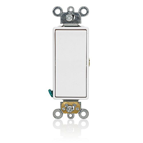 Leviton Decora 15A Switch Momentary Contact Single Pole Commercial Grade, White