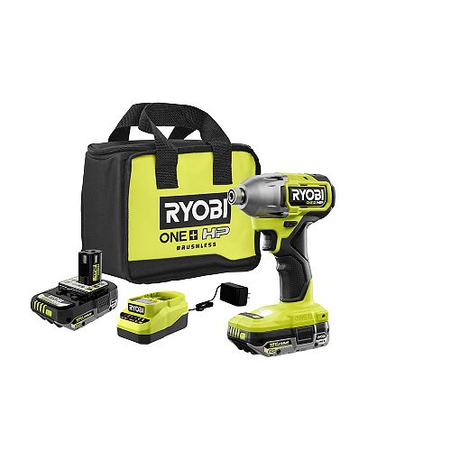 18V ONE+ HP Brushless Cordless 1/4-inch Impact Driver Kit with (2) 2.0 Ah Batteries, Charger and Bag