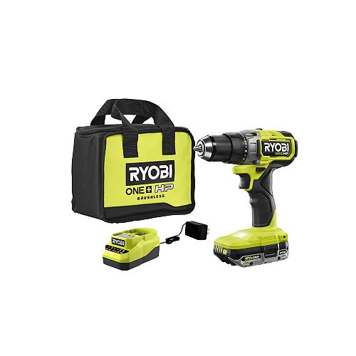 18V ONE+ HP Brushless Cordless Hammer Drill Kit with 2.0 Ah Battery, Charger and Bag
