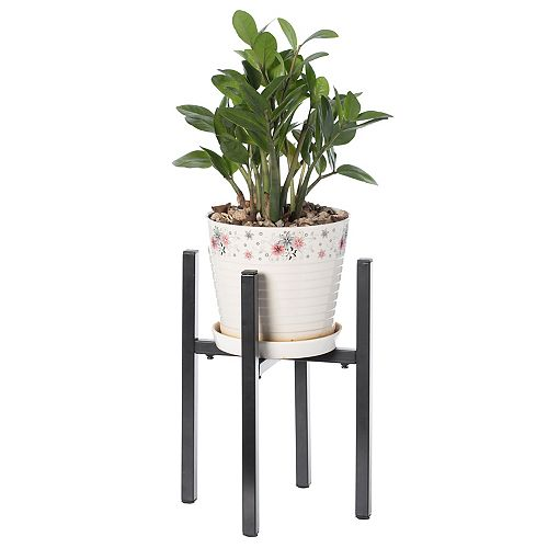 Adjustable Metal Plant Holder, Flower Pot Stand Expands from 9.5- 14.5 Inches