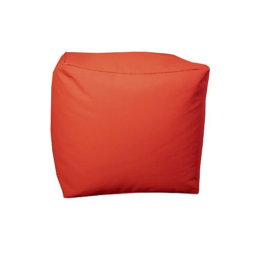 Square Pouff Red