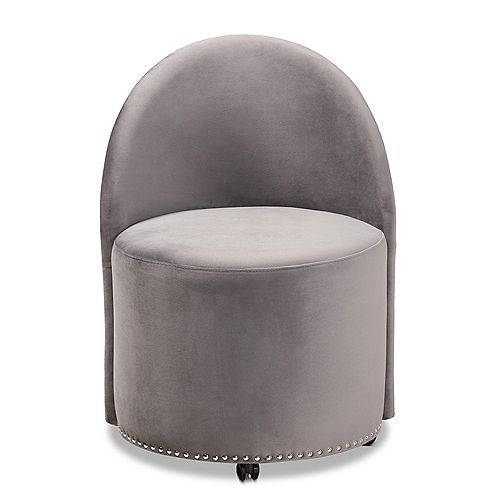 Bethel Fabric Accent Chair in Grey and Black