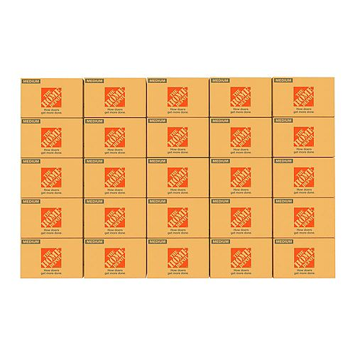 Lot de 25 boîtes de déménagement moyennes