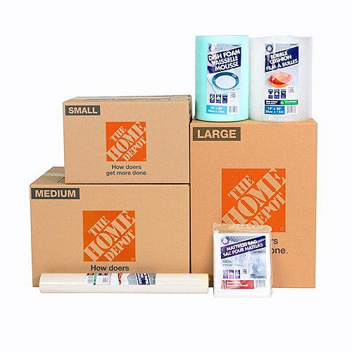 Assortiment de 15 cartons de déménagement pour articles essentiels