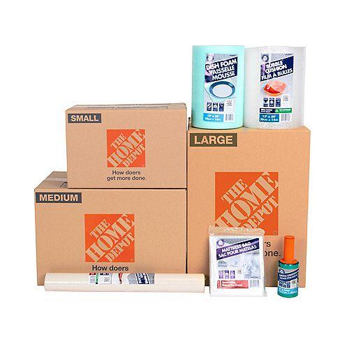 Assortiment de 35 cartons de déménagement pour articles essentiels