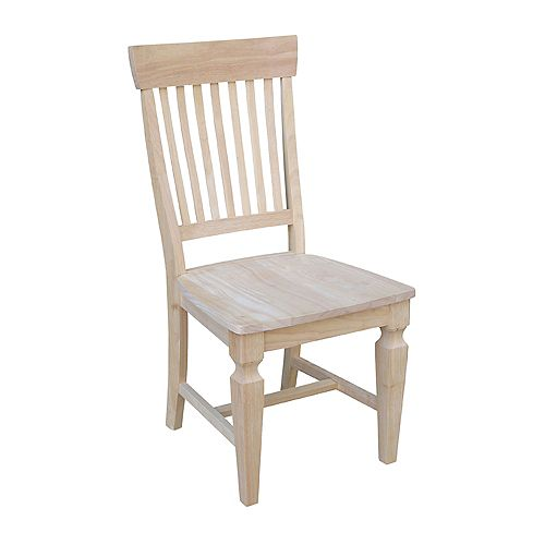 International Concepts Vista Unfinished Solid Wood Dining Side Chair (Set of 2)