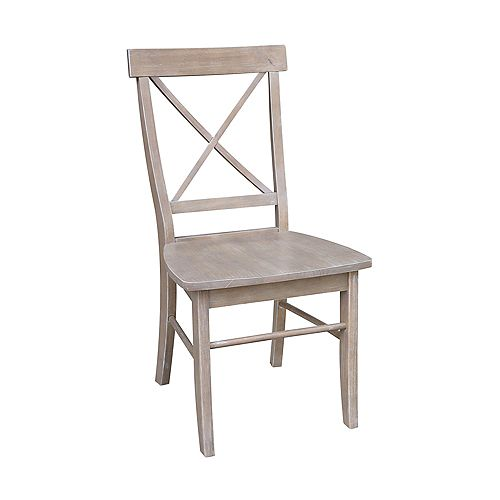 International Concepts Alexa Weathered Taupe Gray Dining Chair (Set of 2)