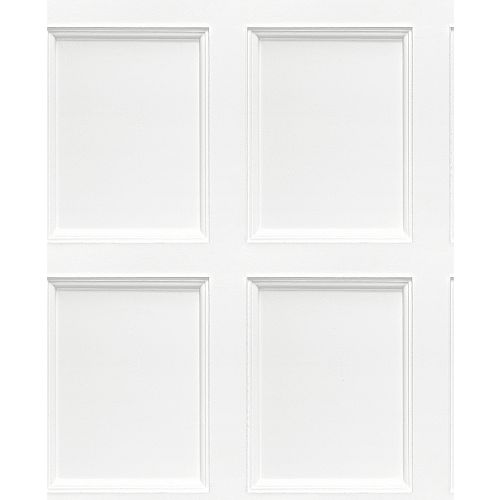 Leeds Off-White Wooden Panel Wallpaper