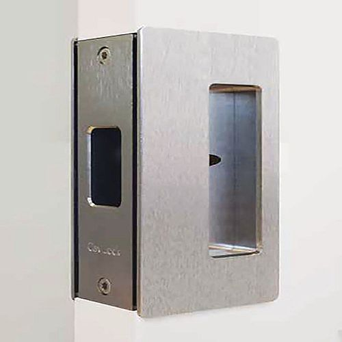 CL200 1 3/8-inch (34.9 mm) Satin Nickel Cavity Sliders Magnetic Pocket Door Handle, Privacy