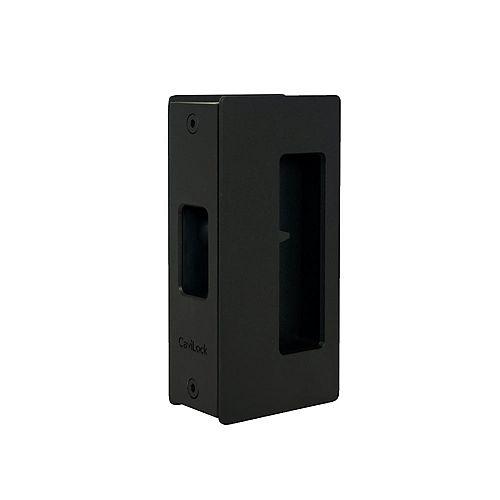 CL200 1 3/4-inch (44.5 mm) Matte Black Cavity Sliders Magnetic Pocket Door Handle, Passage