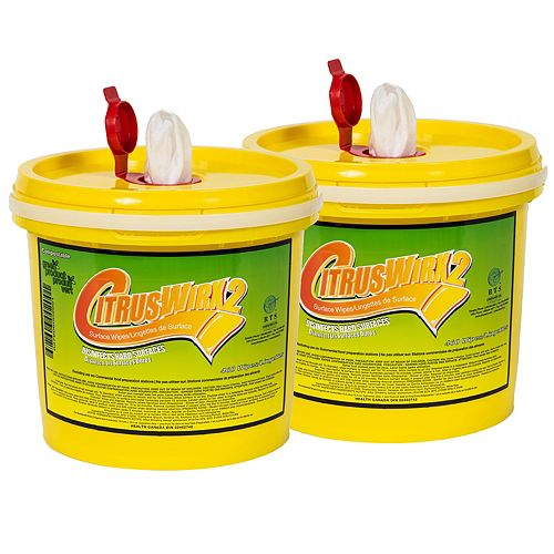 Disinfectant Wipes Bucket, 460 Wipes (Pack of 2)