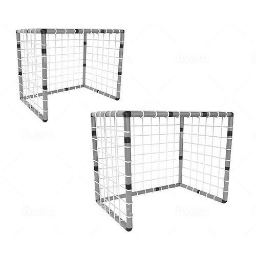 Funphix Set of Nets - 2x Soccer Nets, Volleyball Net, Basketball Net