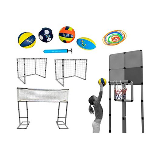 Funphix Sport Set Accessories - 4 Nets; 4 Balls; Pump; 20 Toss Rings: Panels, Tubes and Connectors NOT INCLUDED