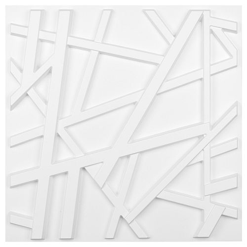19.7-inch x 19.7-inch 3D Wall Panels PVC Crossing Lines Design (32 Sq.Ft)