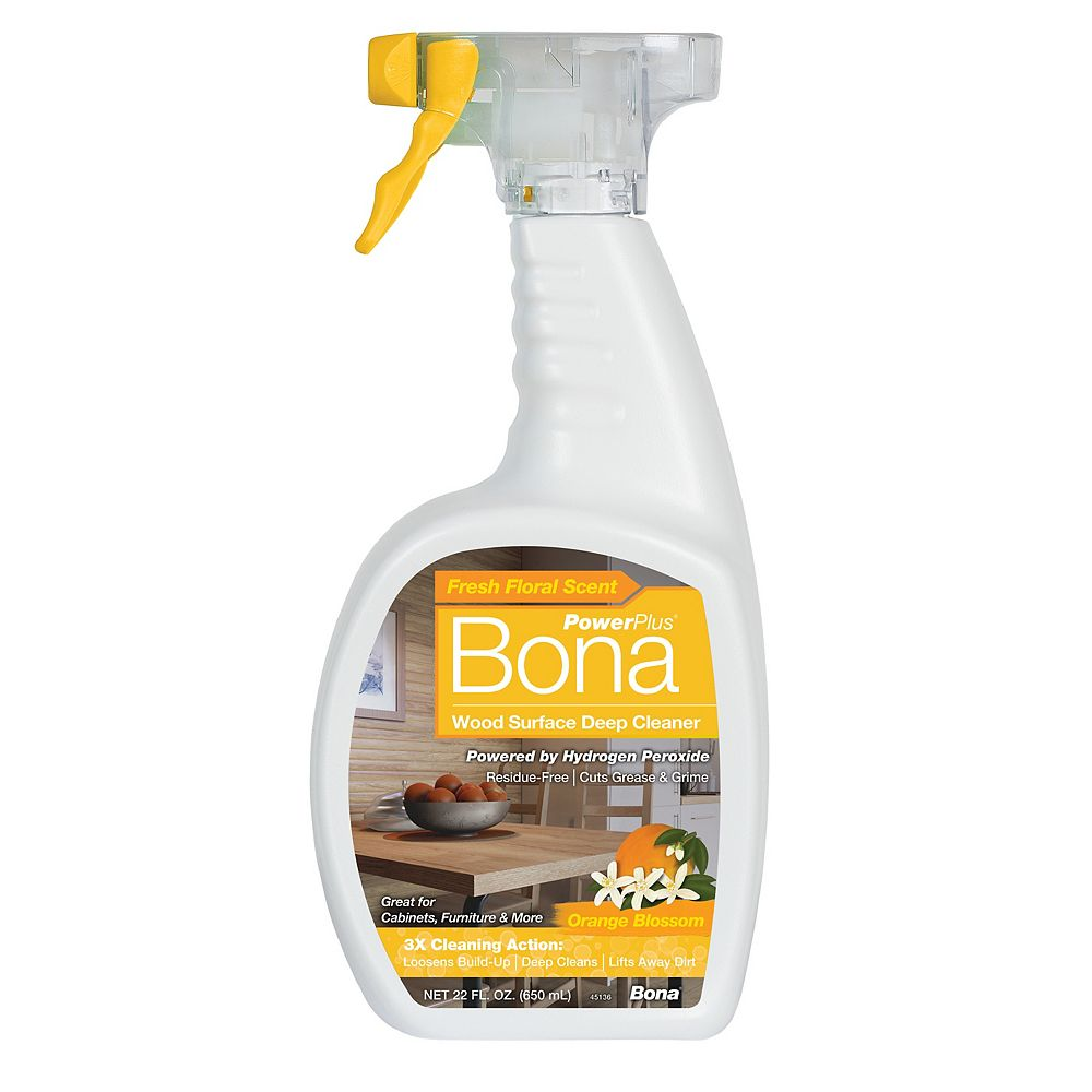 Bona PowerPlus Wood Surface Deep Cleaner, Orange Blossom 650ml