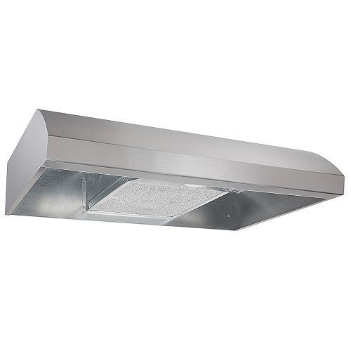 30 Inch Under Cabinet Range Hood, 270 Max CFM, Stainless Steel