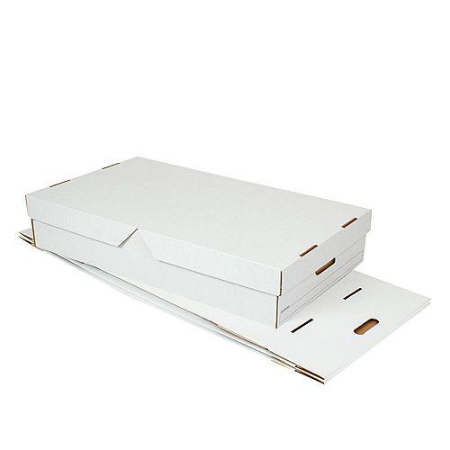 Lot de 3 boîtes de rangement sous le lit de 81,28 cm L x 45,72 cm l x 15,24 cm P