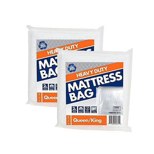 Lot de 2 sacs pour matelas de grand/très grand lit usage intensif de 2,54 m x 2,38 m x 25,4 cm