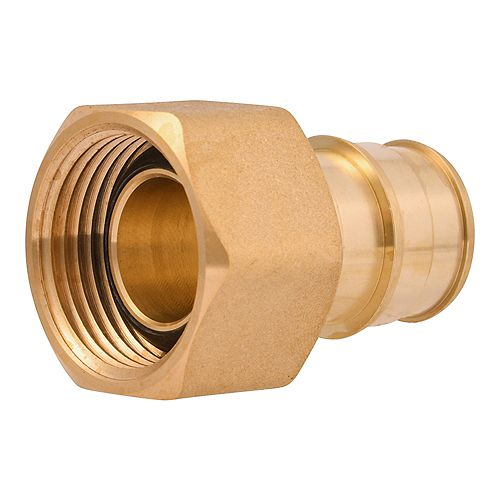 3/4-inch PEX-A Expansion x 3/4-inch FNPT Brass Swivel Adapter