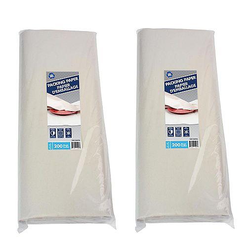 2 paquets de 200 feuilles de papier demballage de 60,96 cm (400 feuilles)