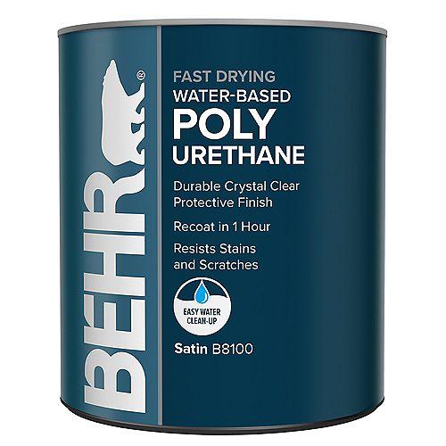 Polyuréthane à base d'eau et à séchage rapide - Satiné, 946 ml