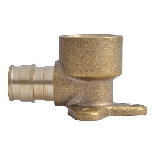 1/2-inch PEX-A Expansion x 1/2-inchFNPT Brass Drop Ear Elbow