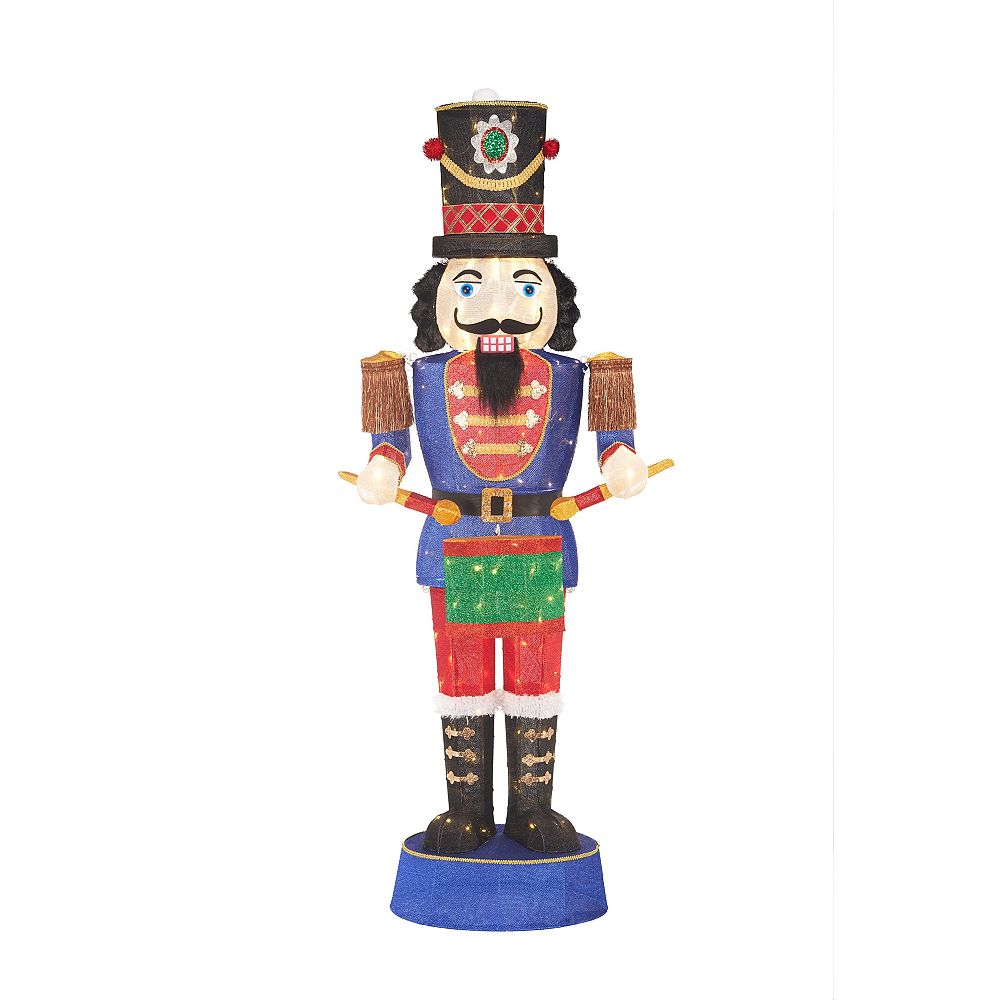 Home Accents Holiday 6 ft LED Nutcracker Playing Drums