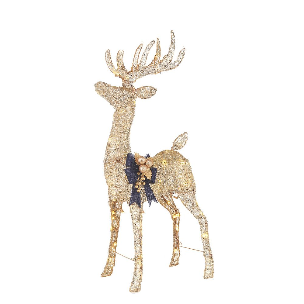 Home Accents Holiday 4 ft LED Deer 105 Warm White LED Lights