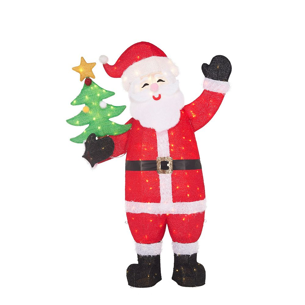 Home Accents Holiday 5 ft LED Santa 160 Warm White LED Lights
