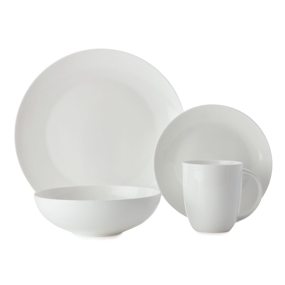 Maxwell & Williams Cashmere White Coupe 16 piece dinnerware set