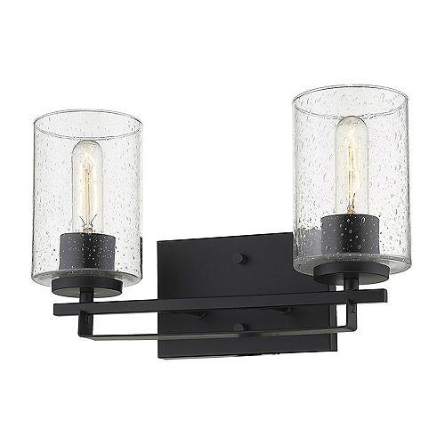 Applique Orella à 2 ampoules en Noir