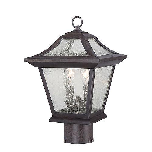 Acclaim Lighting Aiken 2-Light  Outdoor Black  Post Light