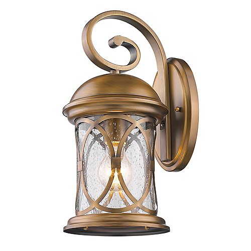 Acclaim Lighting Lincoln Outdoor 1-Light Wall-Mounted Antique Brass