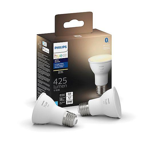 50W Soft White PAR20 DIM Light Bulb E26 2-Pack