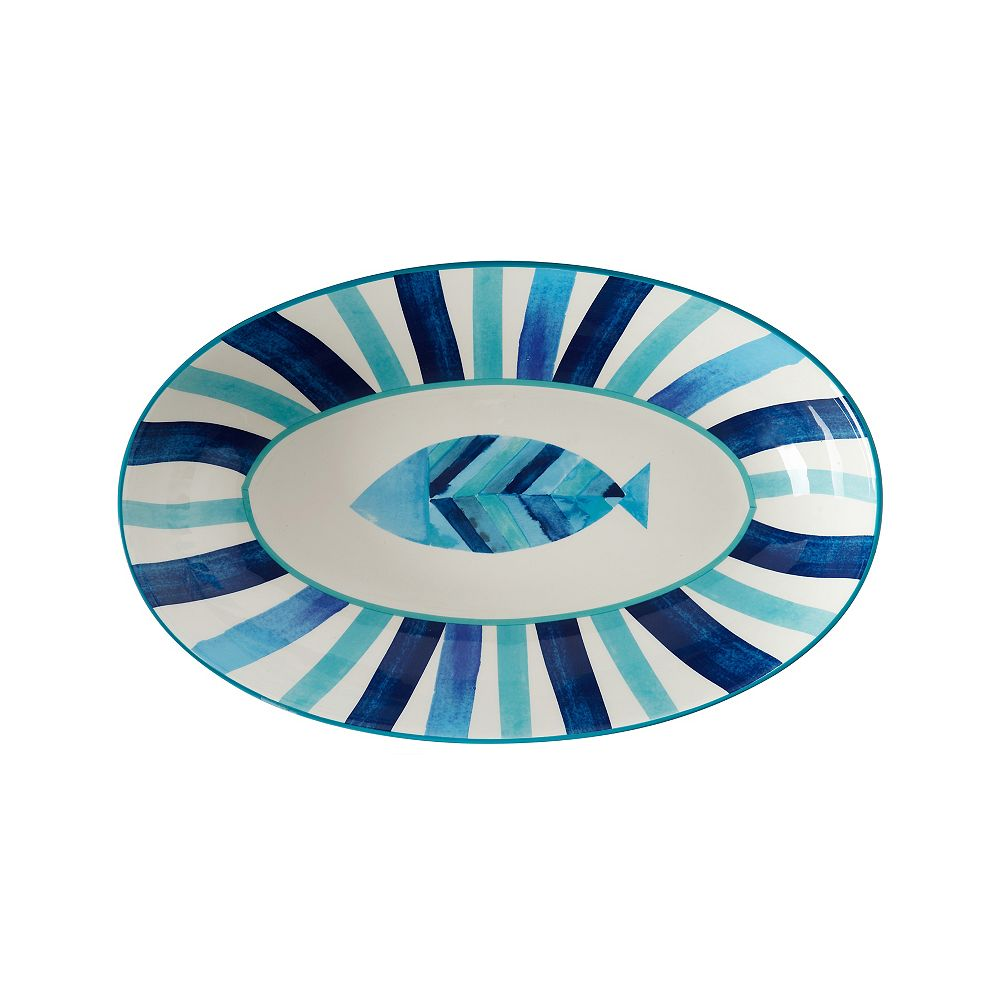 Maxwell & Williams Reef Fish Oval Bowl 42 cm x 26 cm