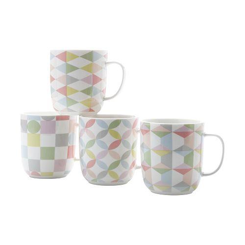 Geoclectic Mug 460ml - Set of 4