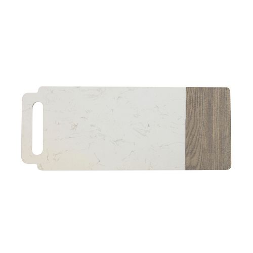 Elemental Marble and Ash Wood board with handle 50 cm x 20 cm