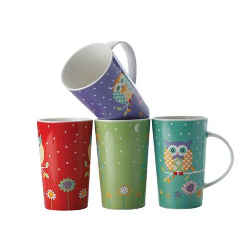 Hoot Hoot Mug 420 ml - set of 4